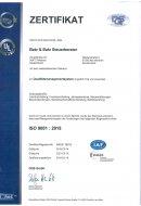 Zertifitkat des Qualitätsmanagementsystems
